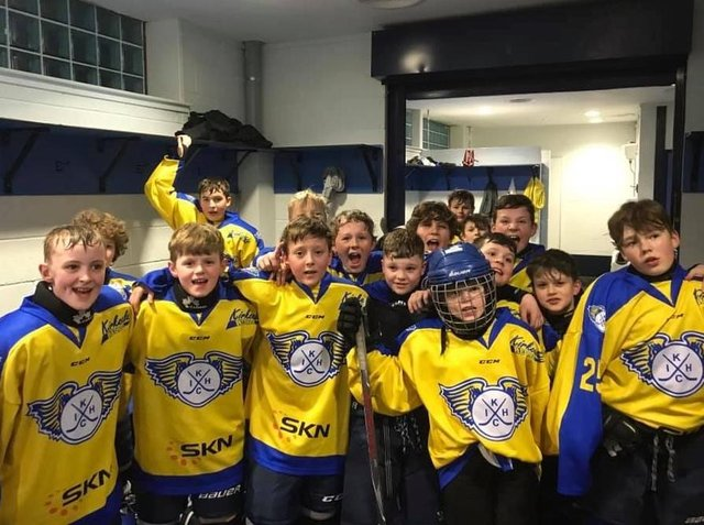 Youngsters from Kirkcaldy Ice Hockey Club