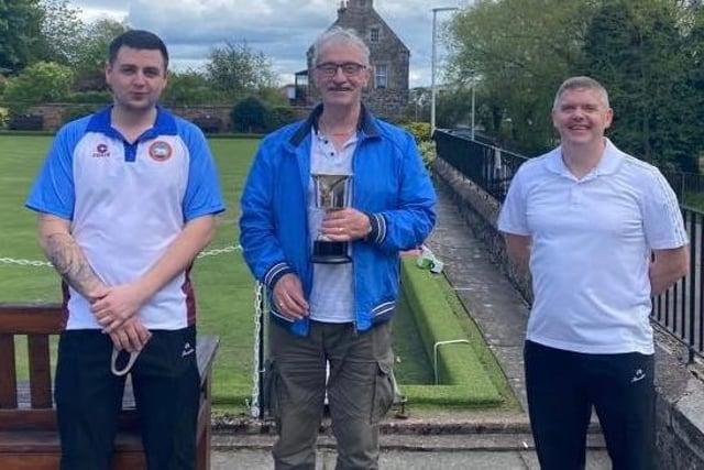 Stewart Duff, Thomas Honeyman and Brian Walker were winners of Auchteruchty's Monty Cup
