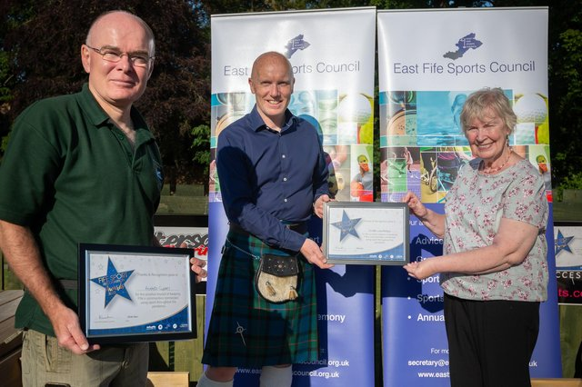 Richard Cleary and Stuart Williamson from Ceres Highland Games