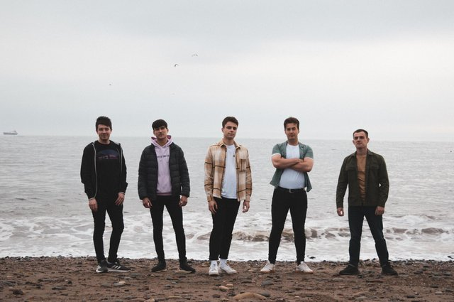 The members of Indie rock band Mosaics from Kirkcaldy. They have been marking the release of their new EP.