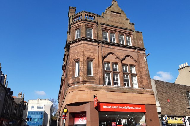 Swan Memorial Building at the foot of Kirk Wynd, Kirkcaldy, is to be converted into flats. In the background is the former Fife Free Press office which is also being turned into flats.