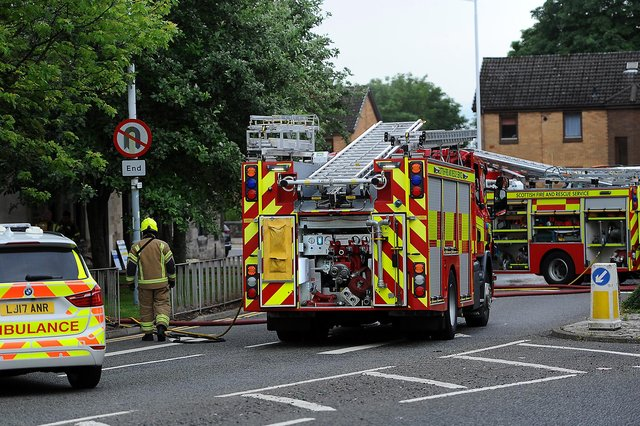 St Clair Street closed as fire crews attend the scene (Pic:  Fife Photo Agency)