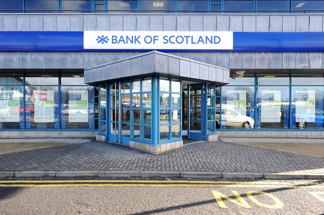 The offence took place at the Bank of Scotland,  Carberry Road,  Kirkcaldy. Pic: Fife Photo Agency.