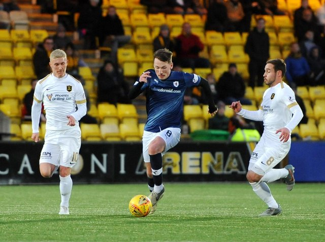 Regan Hendry in action against Livingston in the Scottish Cup in January 2020 (Pic: Fife Photo Agency)