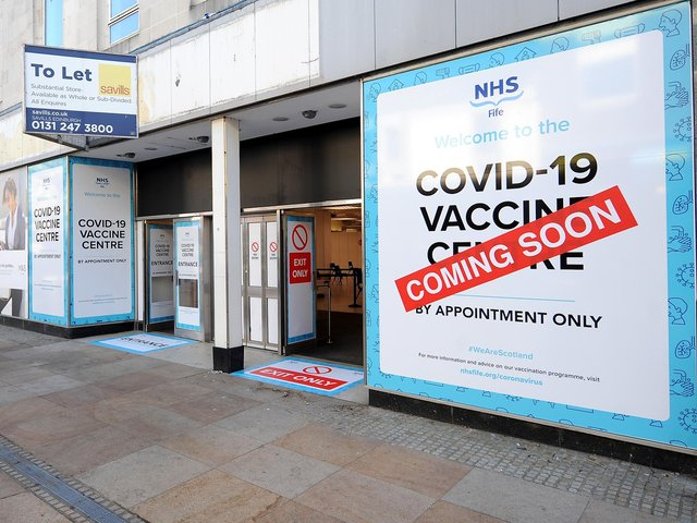 The doors are set to open next month to the new mass vaccination centre which has taken over the whole of the former M&S store in Kirkcaldy's High Street (Pic: Fife Photo Agency)