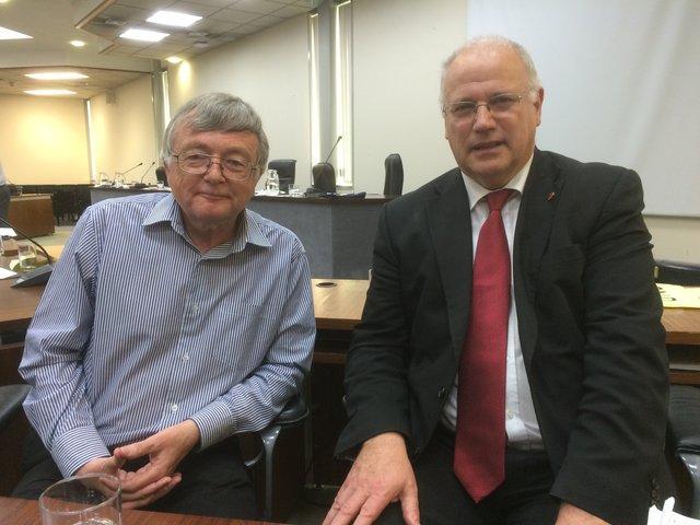 Fife Council co-leaders David Alexander (left) and David Ross