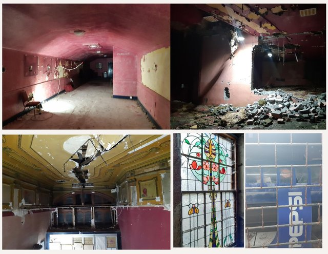 Inside Kirkcaldy's old ABC Cinema- the foyer remains instantly recognisable but the wall between Cinema 2 and 3 has been knock down. The confectionery kiosk remains, and the art deco windows has endured next to the staircase in the foyer.
