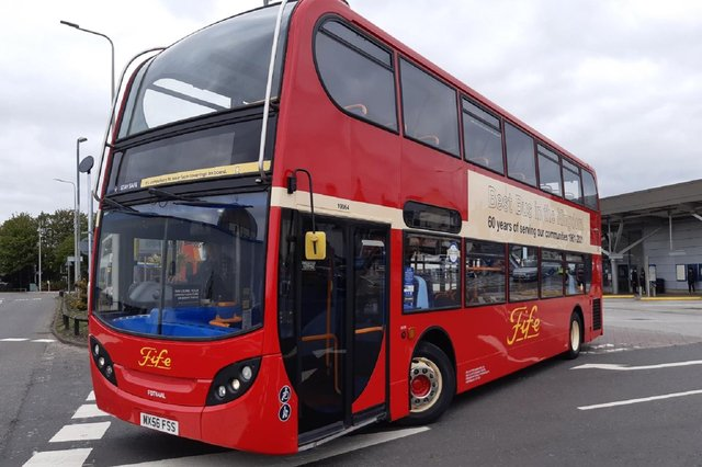 The 60th anniversary livery on Fife buses