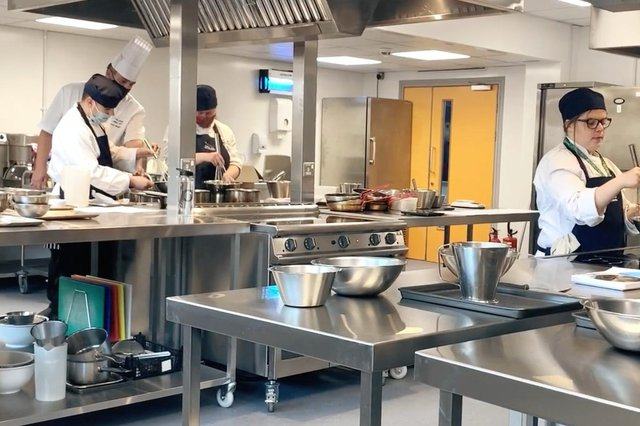 One of the new kitchens at the Kirkcaldy campus.