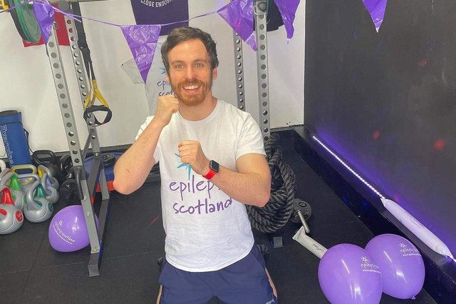 Kirkcaldy fitness manager Ben Smith has raised an incredible £1000 for Epilepsy Scotland following his Purple Day fundraiser.