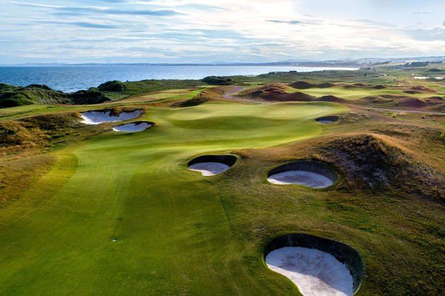 The fourth hole at Dumbarnie Links