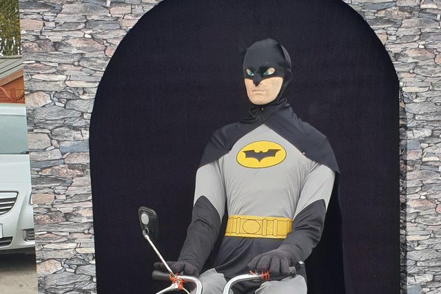 Batman was a previous entry to the scarecrow competition.