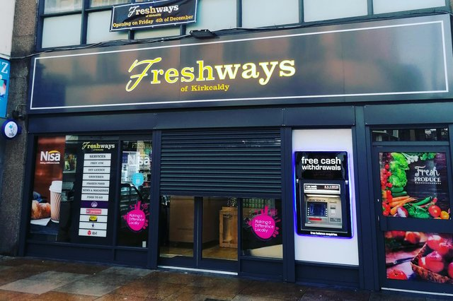 Freshways is set to open on Kirkcaldy High Street after moving into the empty building that was once Uganda charity shop.