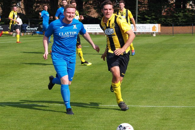 Paul Quinn, left, came into the Saints side for the friendly. Stock pic by Blair Smith