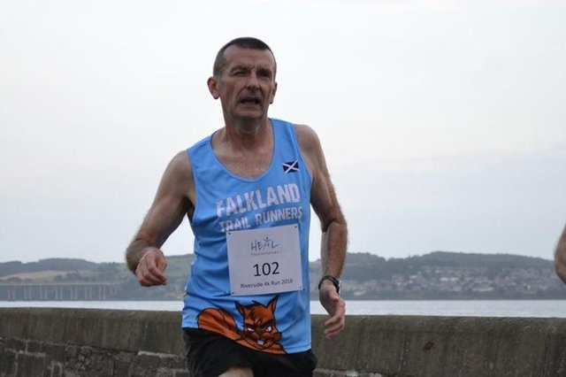 Trail runner Brian Cruickshank was amongst those competing