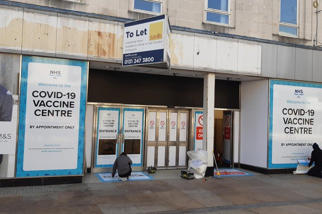 The former M&S store in High Street, Kirkcaldy, is being turned into a mass vaccine centre after the retailer gave NHS Fife free use of the building