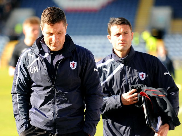 Grant Murray and Laurie Ellis during their time at Raith Rovers (Pic: Fife Photo Agency)