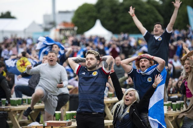 The latest coronavirus figures reveal the highest case numbers ever reached in Scotland as an expert hassuggested that men meeting up to watch Euro 2020 is behind the rise (Photo: Euan Cherry).