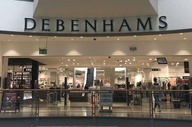 The Debenhams branch in Dunfermline will close in May. Picture: Scott Louden.