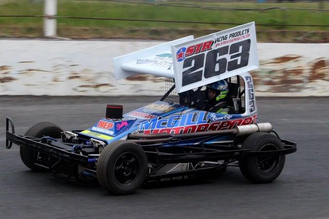 East Wemyss racer Dean McGill, winner of the formula II final