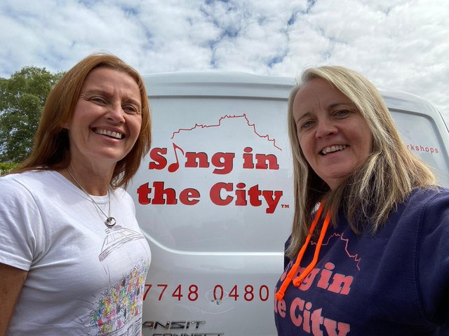 Musical directors, Kirsty Baird (B.E.M.) and Annette Hanley.