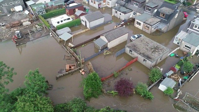 Cardenden flooded after the torrential rainstorm of August 11 and 12, 2020. (Pic George Zielinski)