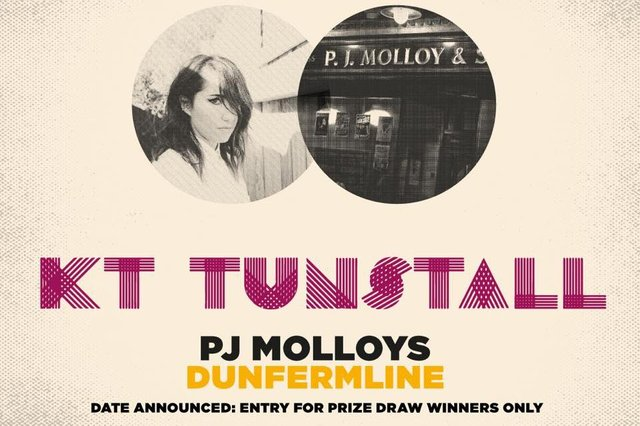 Poster for KT Tunstall's gig at PJ Molloys