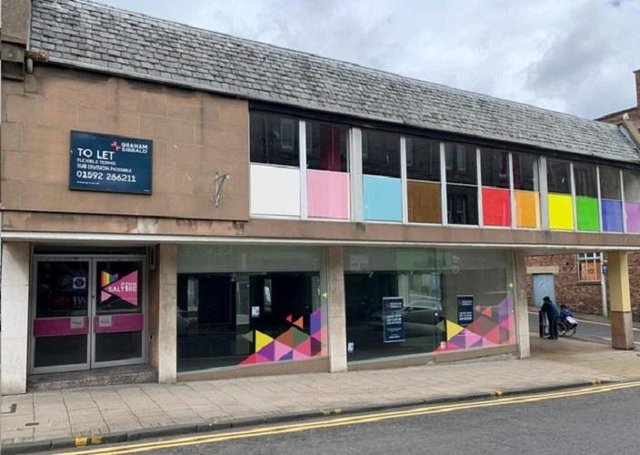 Pink Saltire plans to establish an LGBT+ community hub in the former furniture shop in Kirkcaldy town centre