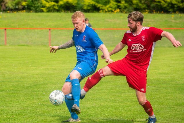 St Andrews United found themselves on the wrong end of a 4-0 loss at the hands of Tayport on Saturday. Pic by Matt Hooper/This is St Andrews.