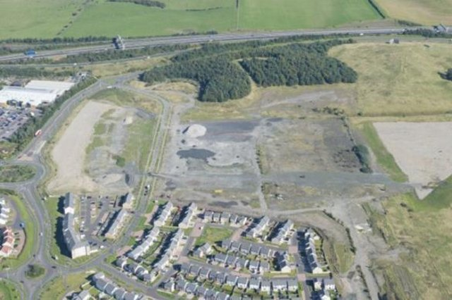 Site of the proposed Dunfermline Community Learning Campus on the eastern edge of the town, north of the city's Amazon depot and to the west of Fife Leisure Park
