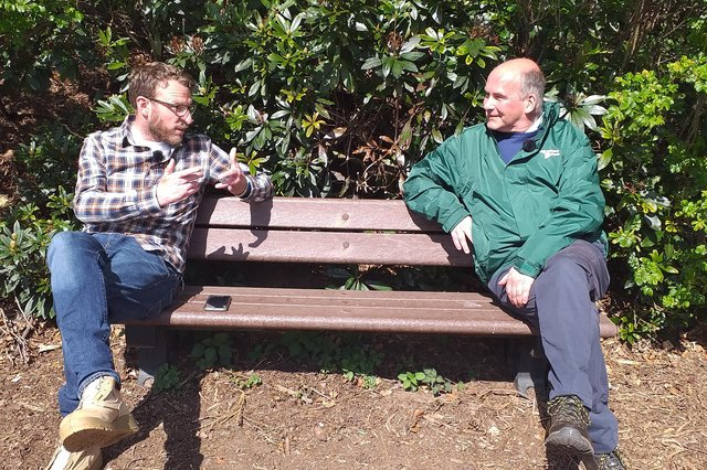 Landward presenter JJ Chalmers interviewing FEAT chairman Brian Robertson back in April.
