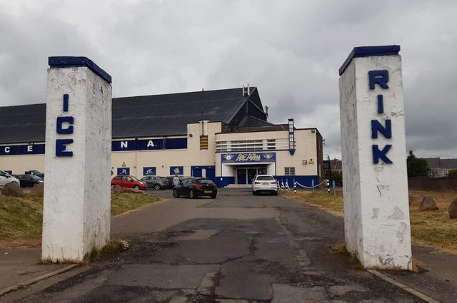 The distinctive pillars leading to Fife Ice Arena in Kirkcaldy (Pic: Fife Free Press)
