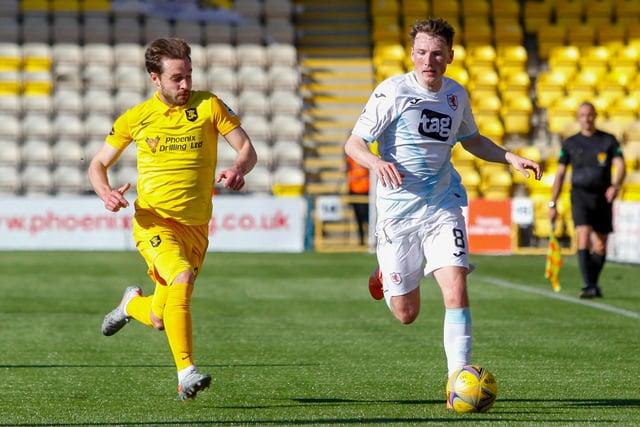 Regan Hendry on the ball against Livingston last season (Pic: Scott Louden)