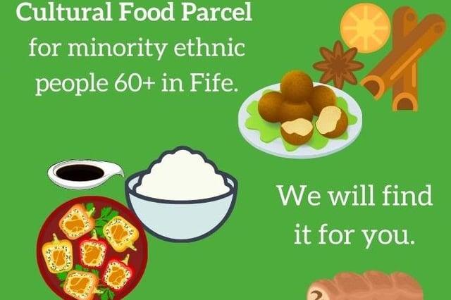 FCE cultural food parcel flyer.