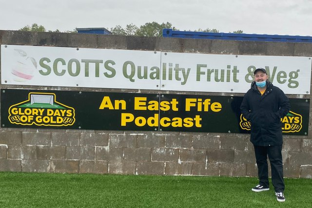 Lee Gillies, East Fife fan and co-host of the Glory Days of Gold podcast