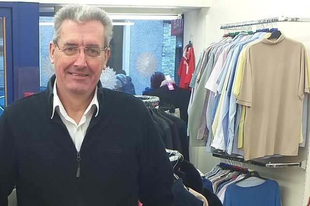 Stuart McLeod, manager of the new Sense Scotland shop in Leven, looks forward to opening on April 26
