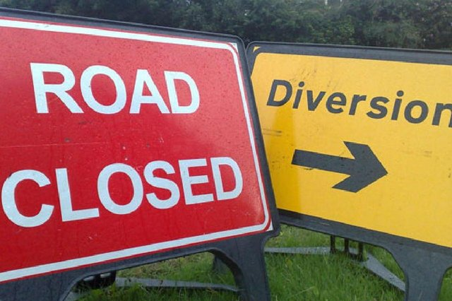M90 sliproad will be closed over two nights
