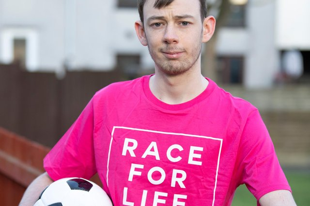 Lee Watson from Rosyth who is supporting the Race For Life At Home initiative (Pic: Lesley Martin)