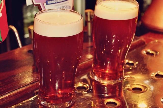 A pint at the bar ...