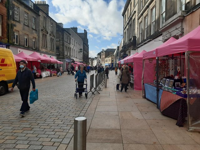 Kirkcaldy High Street - anecdotal evidence suggests more people are shopping local after lockdown