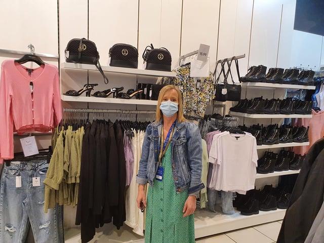 Gina Gardiner, manager at New Look in Kirkcaldy High Street.