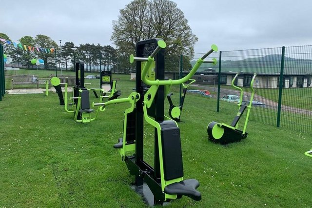The new gym equipment.