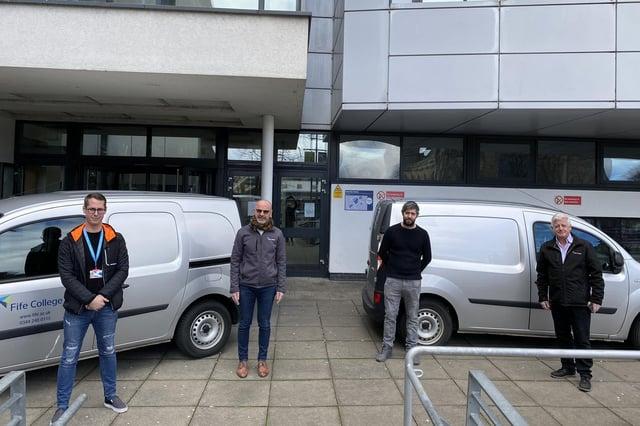 Fife College staff (l-r) Kris Getchell, Bryan McCabe-Bell, Stuart McKay and Hugh Hall.