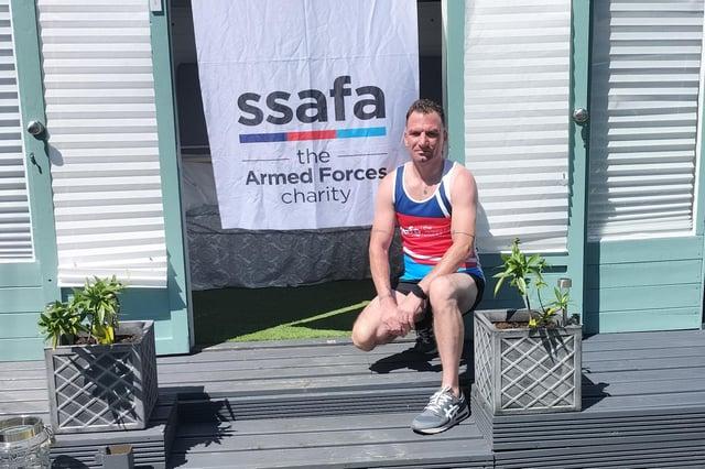 Adam Batterham is running the London Marathon for SSAFA