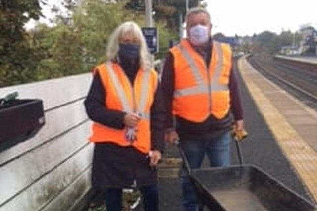 Members of the Rotary Club of Kirkcaldy are back at the town's railway station to resume planting after lockdown.