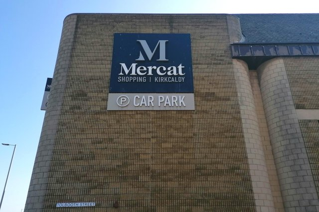 The multi-storey car park at the Mercat Shopping Centre in Kirkcaldy.