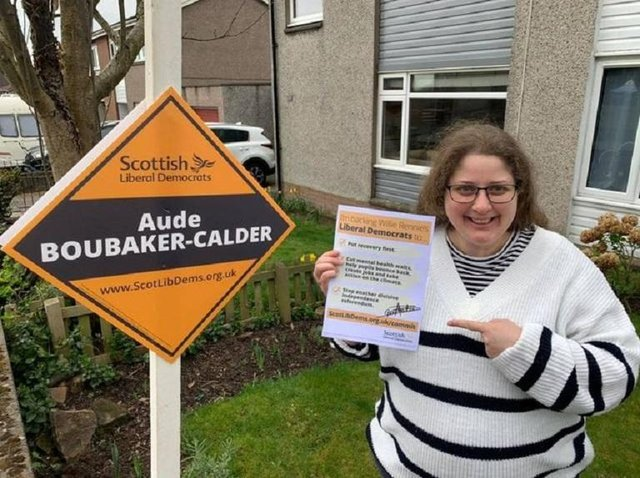 Dunfermline Lib Dem candidate,  Aude Boubaker-Calder, has missed the count because she is in  hospital giving birth.