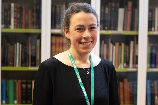 Local Studies officer Susan Birne at Kirkcaldy Library.