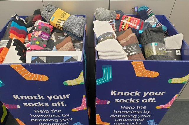 Aldi 'Not More Socks' campaign has helped a Fife group