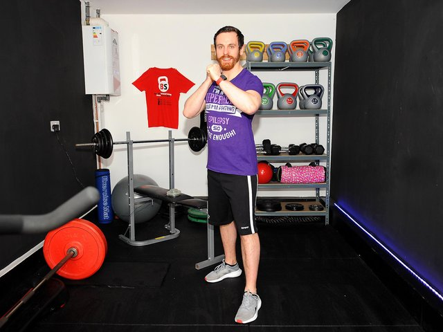 Ben Smith, who works as a fitness manager at Gym 64 Glenrothes, will be holding a two-hour online fitness fundraiser for Epilepsy Scotland on March 27. Pic: Fife Photo Agency